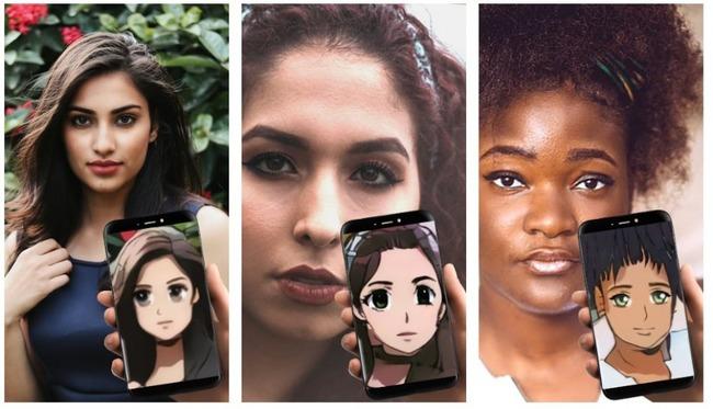 Превращение девушек в аниме