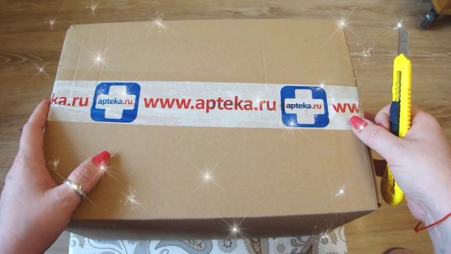 Коробка с заказом Аптека.ру