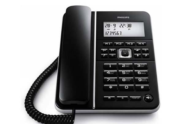Телефон с кнопками меню
