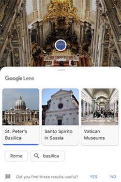 Достопримечательности в Гугл Ленс