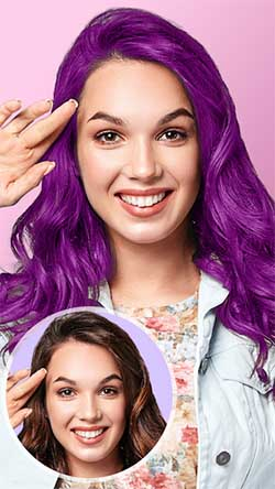 Приложение для смены цвета волос