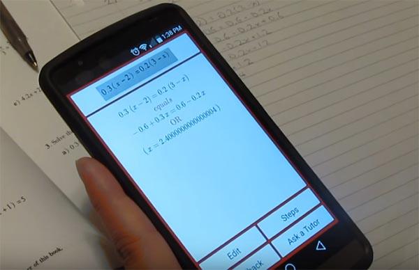 Решение уравнения через камеру смартфона