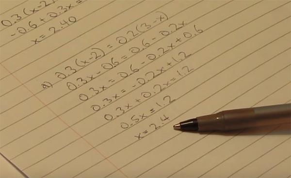 Уравнения по математике
