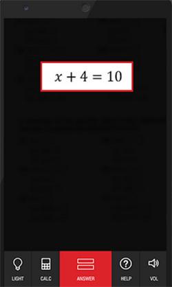 Решение уравнения в Photomath