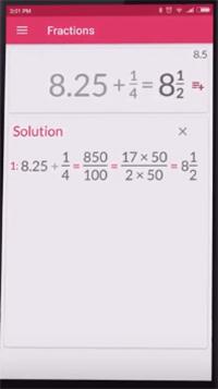 Уравнения с дробями в приложении