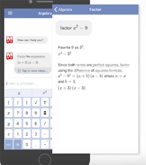 Пояснение решения уравнения в приложении