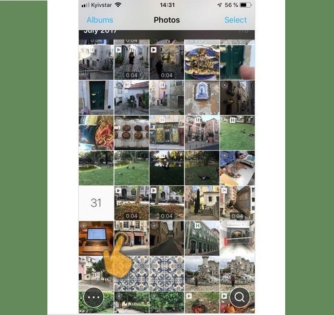 Выбор картинки через HashPhotos