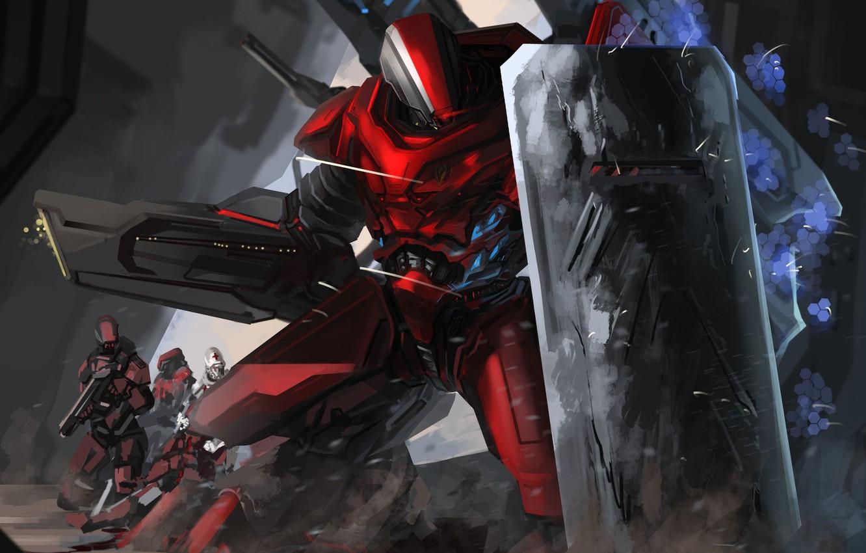 Робот с гигантским щитом