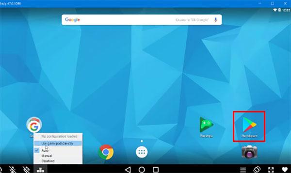 Иконка Google Play в Andy