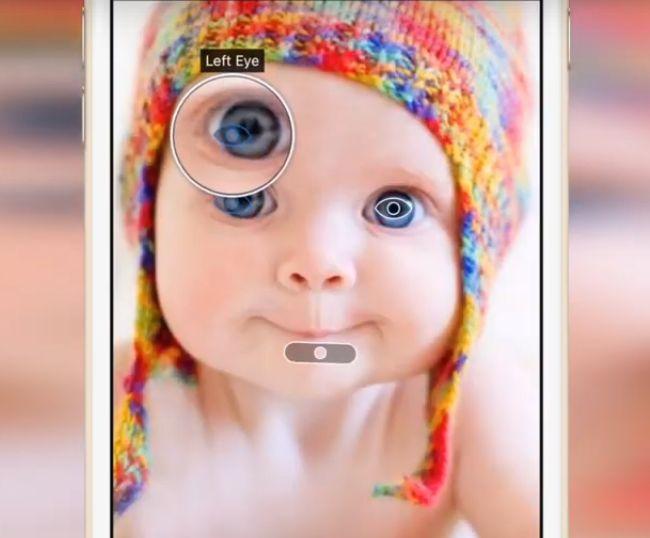 Пометки на фото младенца в шапочке