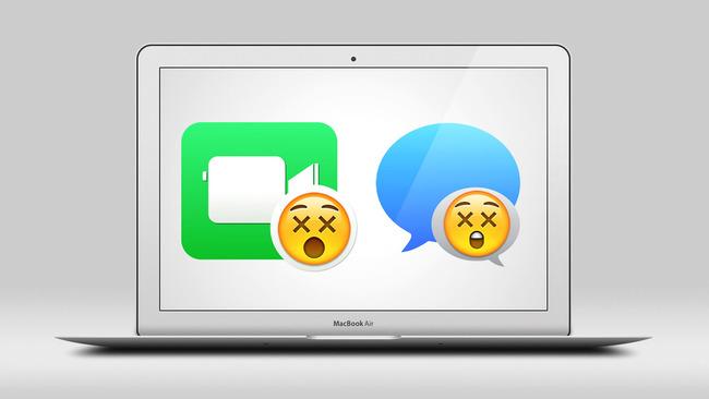 Иконки iMessage и Facetime со смайликами