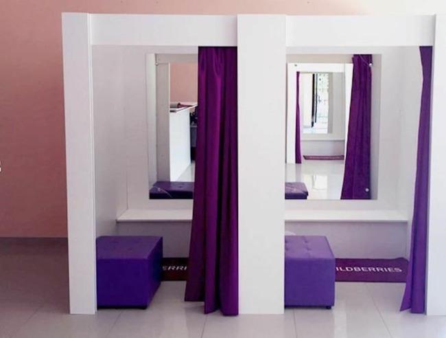 Зеркала в кабинках для примерки