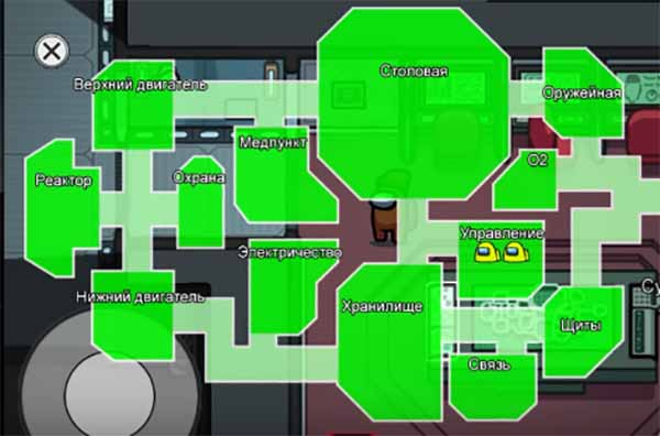 Карта местонахождения игроков