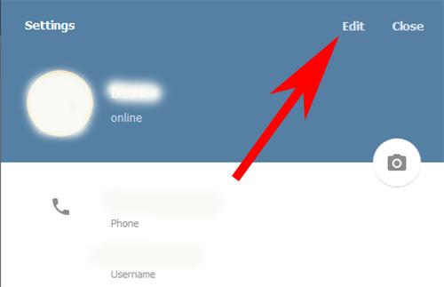 Кнопка Edit