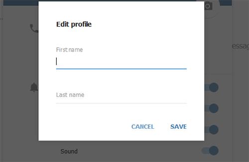 Смена имени пользователя