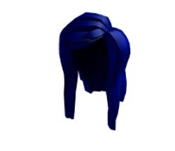 Синяя причёска
