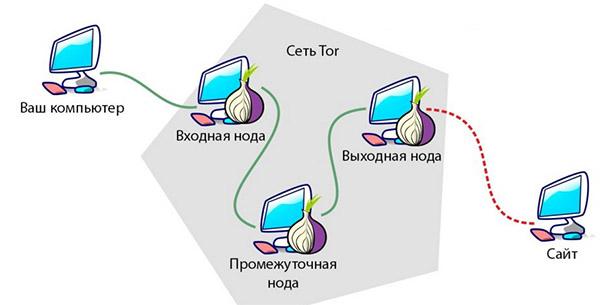 Маршрутизация сигнала в сети ТОР