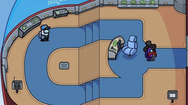 Карта для Among Us из игры про Стикмина