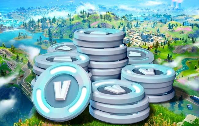 V-монеты на фоне игрового мира
