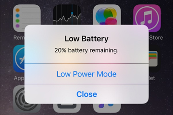Уведомление о разряде батареи