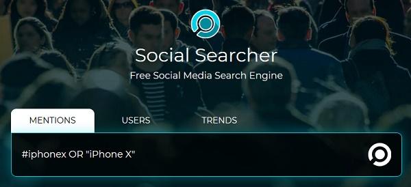 Сайт social searcher