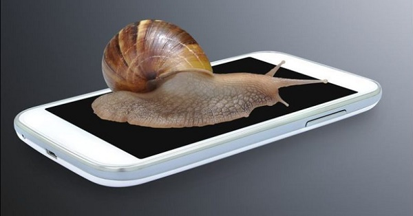 Иллюстрация медленного телефона