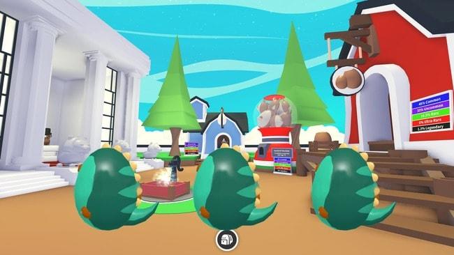 Скриншот с ископаемыми