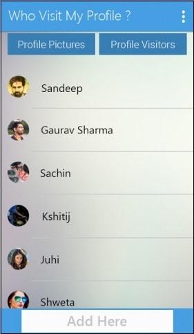 Кнопка Profile Visitors