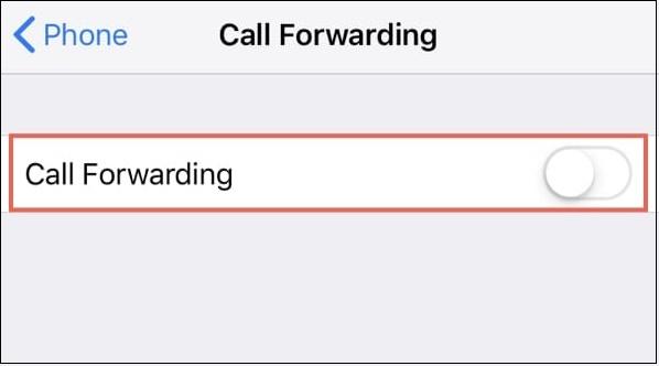 Опция переадресация вызовов отключена