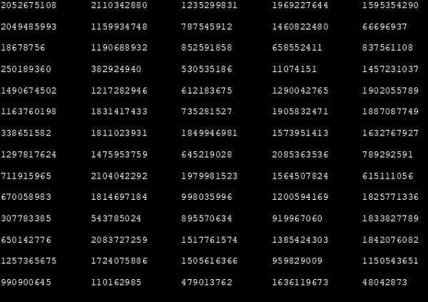 Генераторы чисел