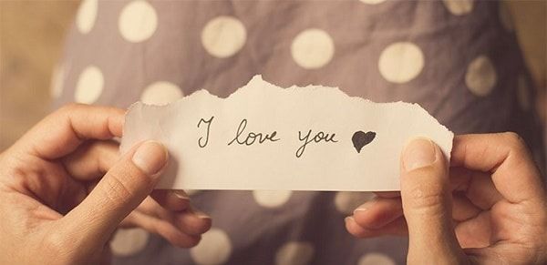 Надпись I love you