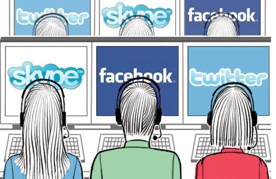 Рисунок слежение за социальными сетями