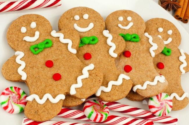 Печеньки в форме имбирных человечков