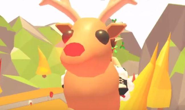 Скриншот с летающим оленем