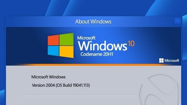 Виндовс версия 2004