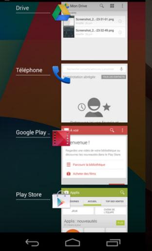Запущенные приложения Андроид