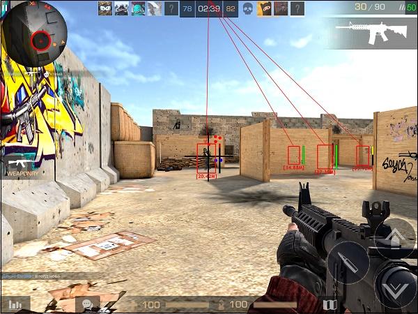 Отображение цели в игре