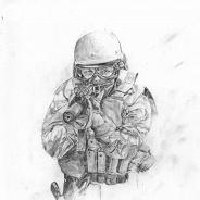 Нарисованный полицейский