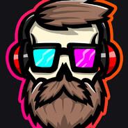 Неоновый бородач в очках