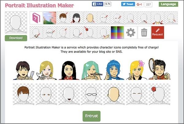 Сервис Portrait Illustrator