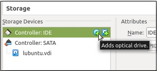 Опция добавления оптического диска