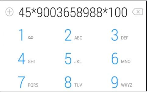 Скрин набор кода Билайн