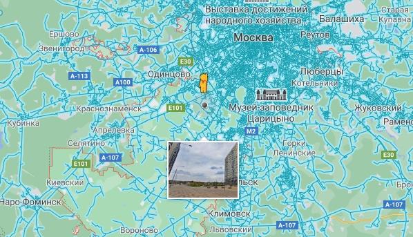 Человечек на карте Гугл