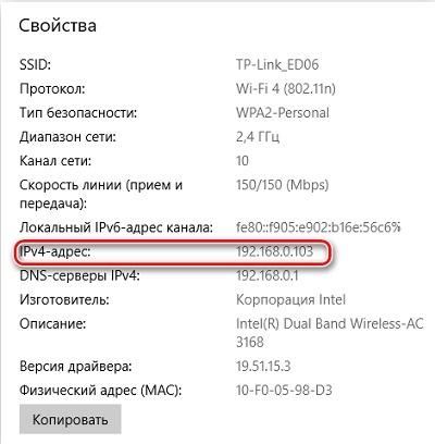 Значение IP