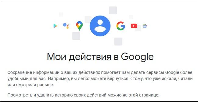 Картинка Моя активность Гугл