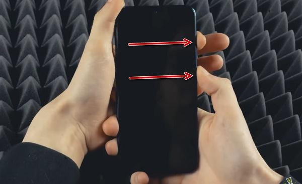 Скрин зажатия кнопок телефона
