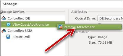 Опция Remove Attachment
