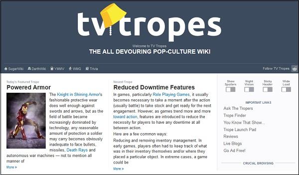 Сайт ТВ Тропы