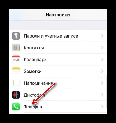 Нажмите Телефон
