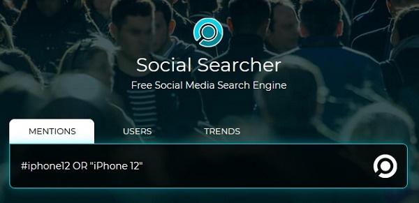 Сервис Social Searcher